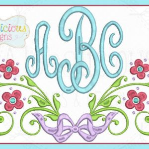 Cherry Blossom Laurel Monogram Frame with bow