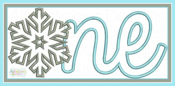 Snowflake ONE- First Birthday Applique