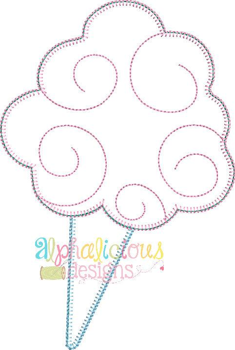 Super Sweet Cotton Candy-Blanket- Applique