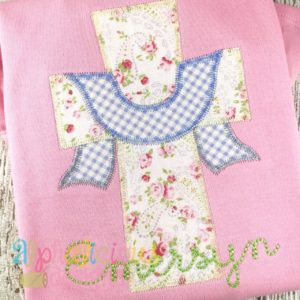 Cross With Sash Applique Design - Zig Zag