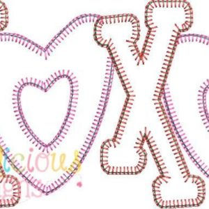 Valentine's XOXO Applique Design-Blanket