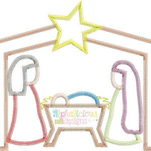 Nativity-ZigZag-Applique