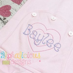 Valentine's Double Heart Applique Designs - Triple Bean