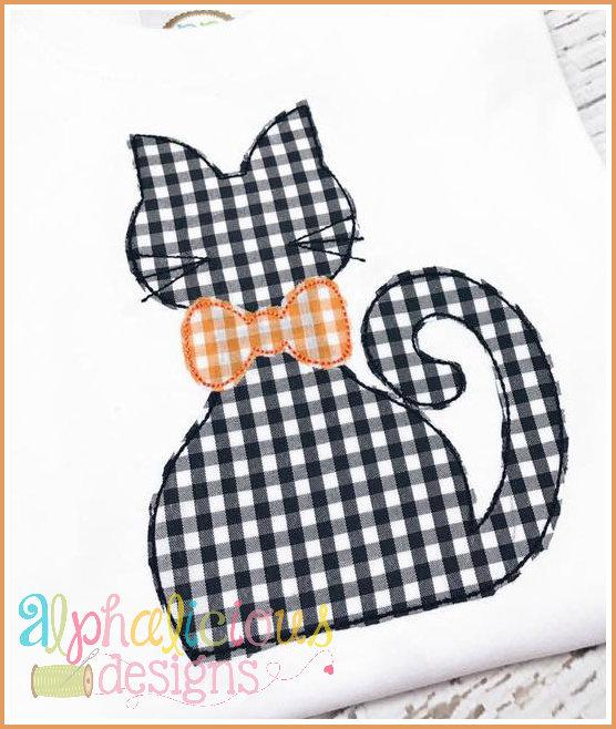 Silly Mr. Kitty-Triple Bean-Applique