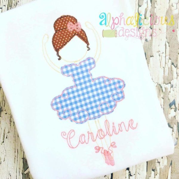 Simply Sweet Ballerina Triple Bean Applique Design