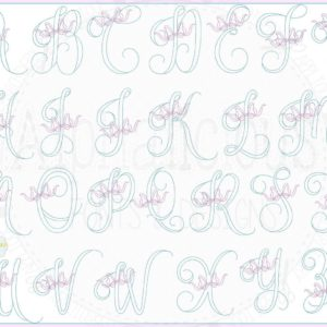 Vintage Bow Embroidery Font