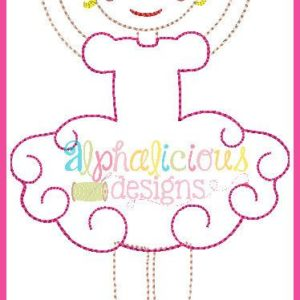 Simply Sweet Ballerina-Triple-Full Applique Design