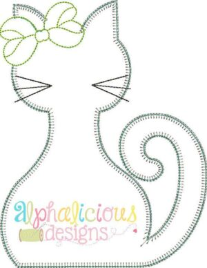 Silly Mrs. Kitty-Blanket-Applique