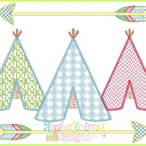 Motif Teepee with Arrows Design