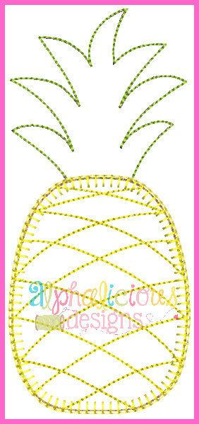 Pineapple with Triple Stitch Applique Design