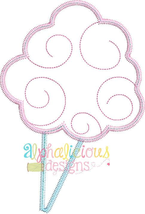 Super Sweet Cotton Candy-Zig Zag- Applique