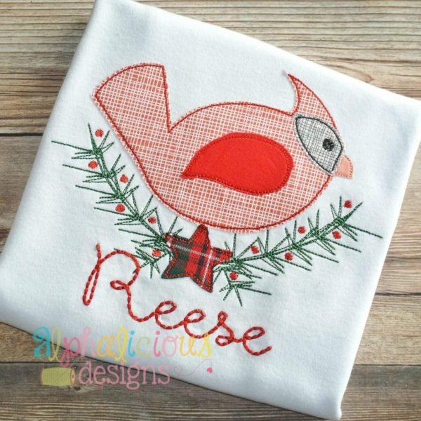 Piney Woods Cardinal Applique- Triple Bean