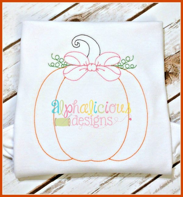 Vintage Pumpkin with Bow