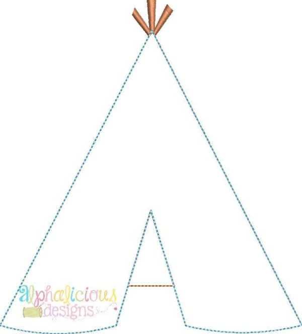 Teepee-Triple Bean-Applique Design