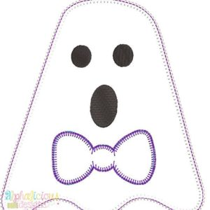 Mr. BOO-Tie- Blanket-Applique Design