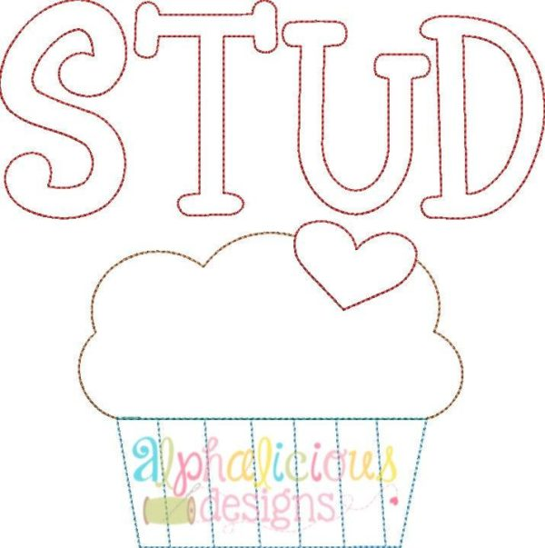 Stud Muffin Applique Design - Triple Bean
