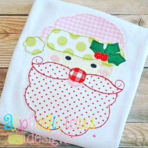 Holly Jolly Santa-Triple Bean-Applique Design