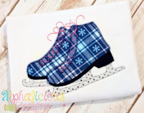 Ice Skates- ZigZag-Applique