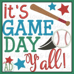 It's Game Day Yall Word Art
