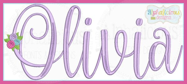 Olivia Embroidery Font