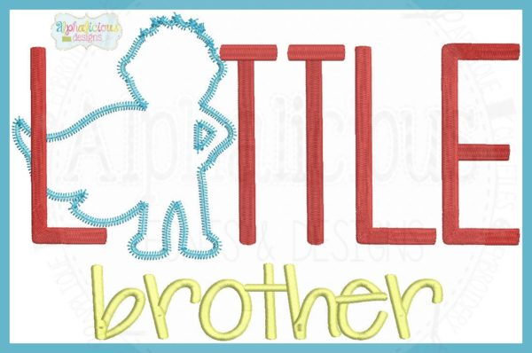Super Brother- Little Brother Applique