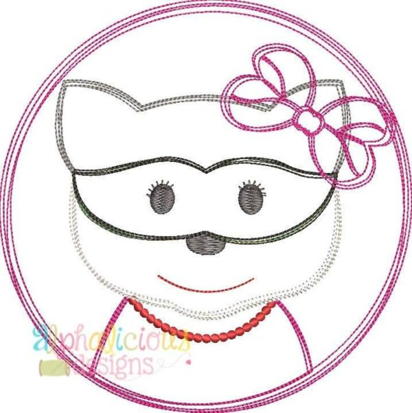 Raccoon Girl-Scribble Applique