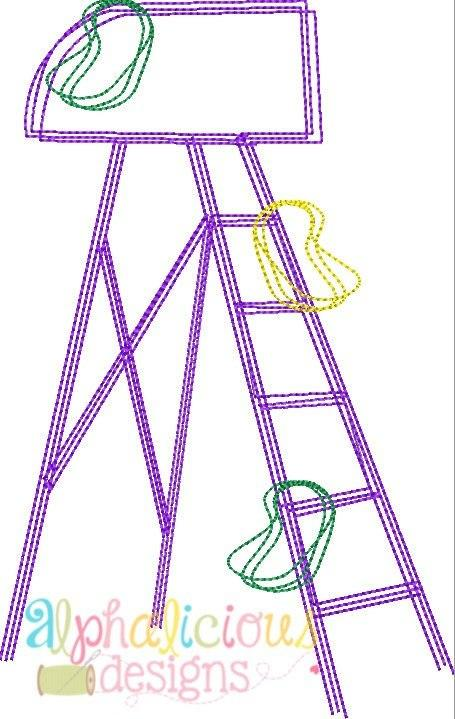 Mardi Gras Ladder Vintage Scribble Design