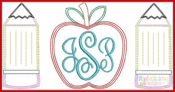 Vintage Back to School Monogram Frame