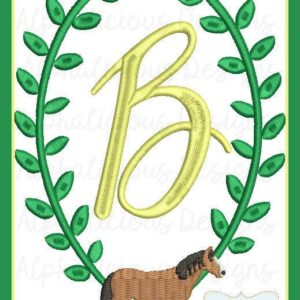 Horse MINI Monogram Frame