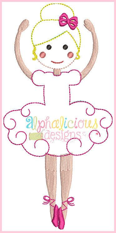 Simply Sweet Ballerina-Triple Bean and Fill-Applique Design
