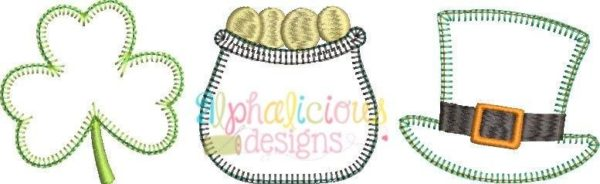 Luck of the Irish Three In A Row Applique - Blanket
