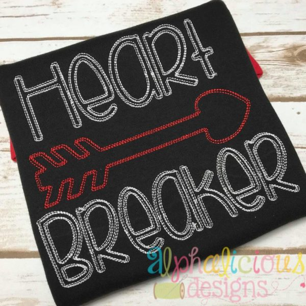 Heart Breaker Vintage Scribble Embroidery
