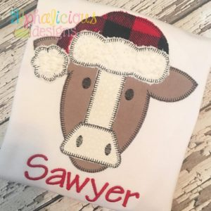Santa Cow Applique-Blanket