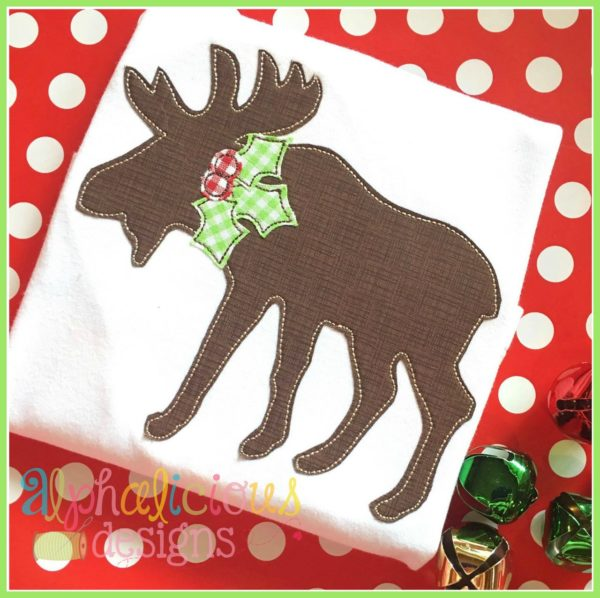 HollyJollyMoose-TripleBean Applique Design