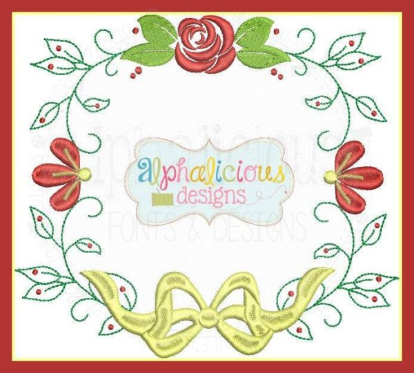 Elegant Rose Beauty and The Beast Inspired Monogram Frame with Bow