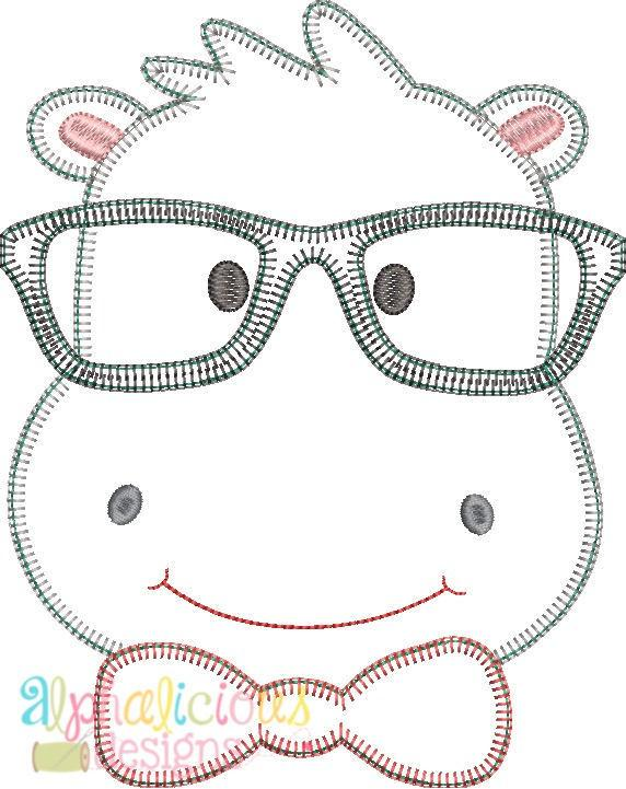 Mr. Happy Hippo Applique Design -Blanket