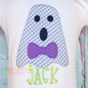 Mr. Boo-Tie- ZigZag-Applique Design