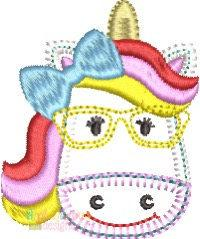 Magical Unicorn with Glasses Feltie - Blanket