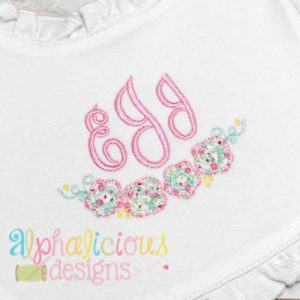 Floral Applique Swag-Blanket