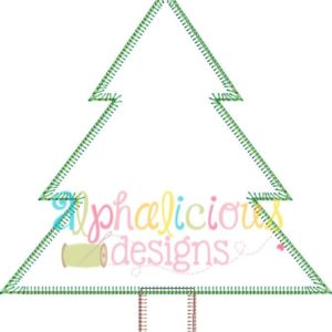 Winter Tree Applique Design-Blanket