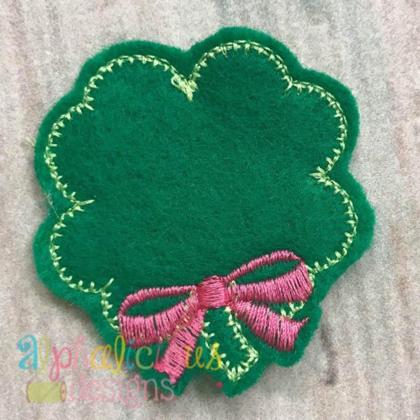 Shamrock with Bow Feltie - Blanket