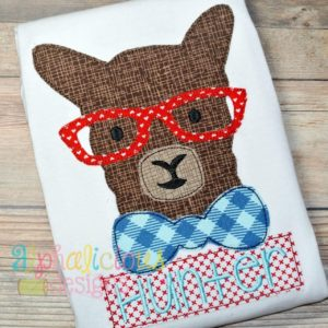 Mr. Llama Applique Design -Triple Bean