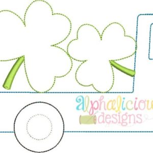 Flatbed Truck with Shamrocks Applique - Triple Bean