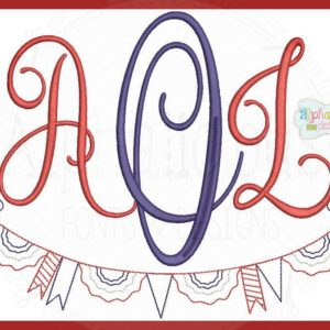 Vintage Patriotic Monogram Swag MINI