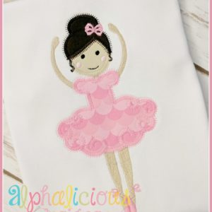 Simply Sweet Ballerina-ZigZag and Fill-Applique Design