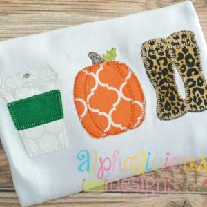 Fall Swag Three In A Row- Applique-Blanket