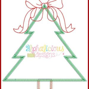 Southern Charm Christmas Tree ZigZag Applique Design