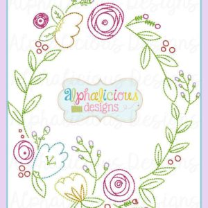 Classic Heirloom Vintage Floral Monogram Frame