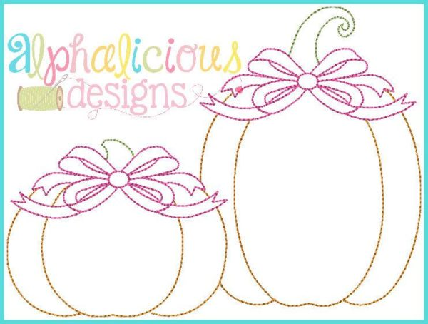 Vintage Pumpkin Pair with Bow