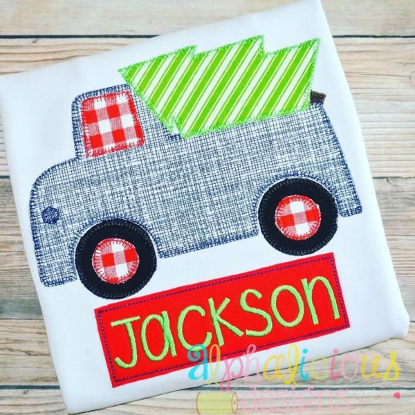 Oh Christmas Tree Truck- Blanket-Applique Design